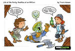 Potions, clerics and labels... rpg comic