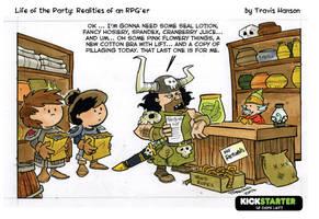 Shopping for supplies- RPG Comic by travisJhanson