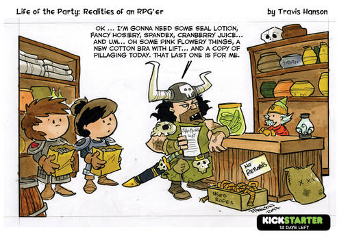 Shopping for supplies- RPG Comic