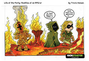 Cooking in armor... new comic by travisJhanson