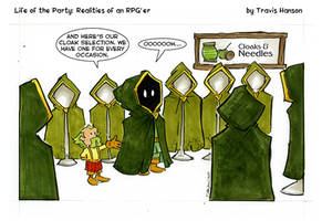 the right cloak for a ranger - RPG comic by travisJhanson