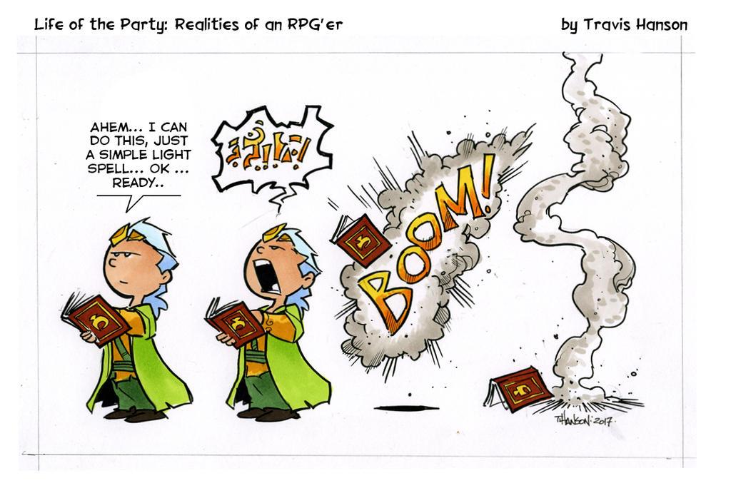 Spell Practice- RPG Comic by travisJhanson