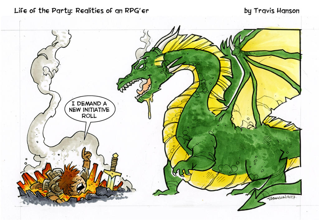 I want a re-roll - RPG Comic