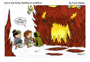 into the dungeon - RPG comic by travisJhanson