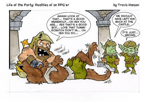 deafeating werewolves... rpg comic