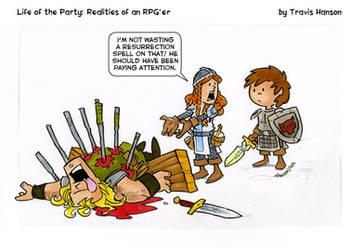 wasting spells..... Rpg comic by travisJhanson