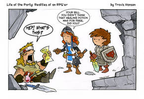 A cleric has to eat... rpg comic by travisJhanson