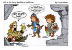 A cleric has to eat... rpg comic