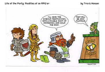 Kobold frappuccinos.... RPG comic by travisJhanson