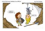 dungeon puns.... rpg comic