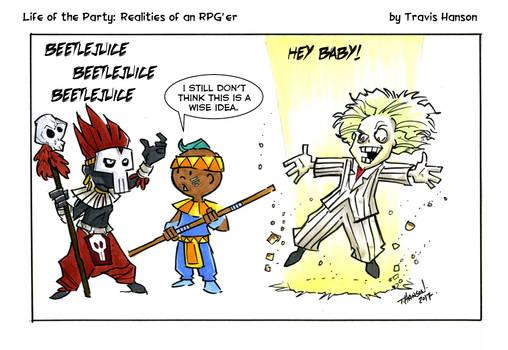 Conjuring help or mayhem.... rpg comic