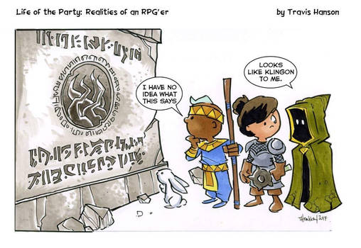 Reading runes... rpg comic