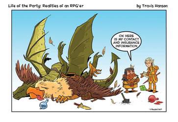 Dwarfs elves dragons and griffins