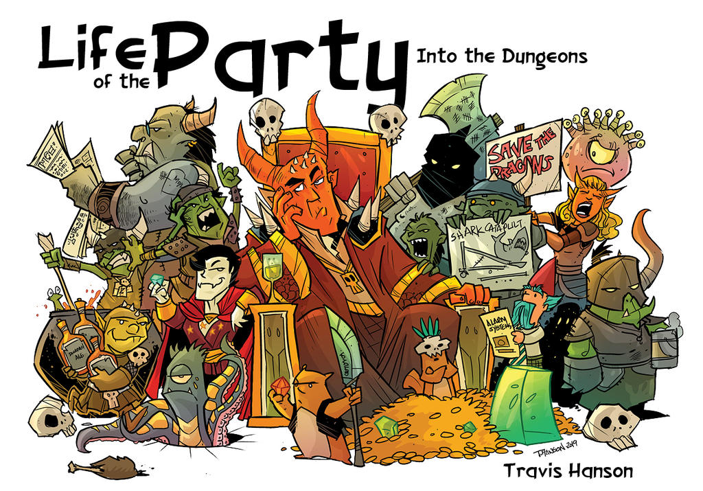 Cover art to the NEWEST LIFE OF THE PARTY 3 by travisJhanson