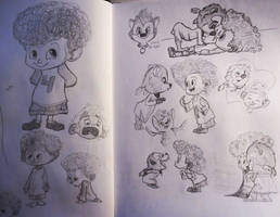 Hotel Transylvania 2: Dennis and Winnie Sketches
