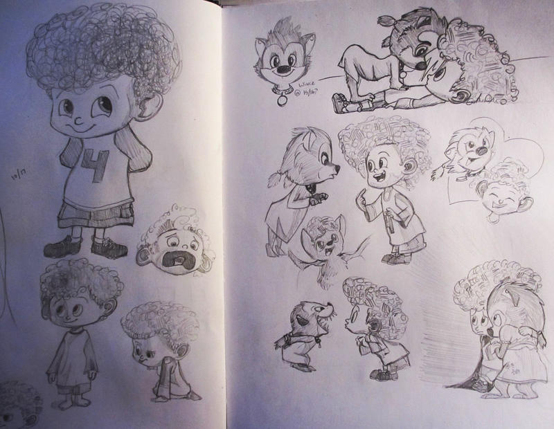Hotel Transylvania 2 Dennis And Winnie Sketches By SkyberrySymphony