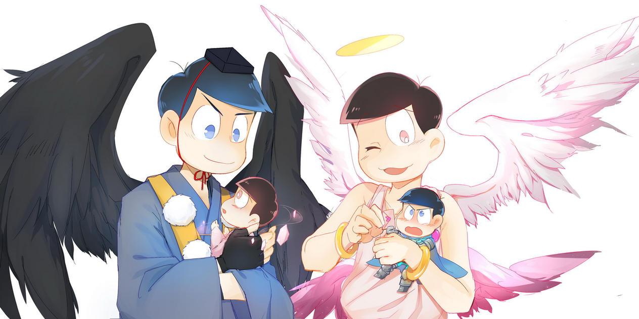 Angel and  Tengu by sui150039