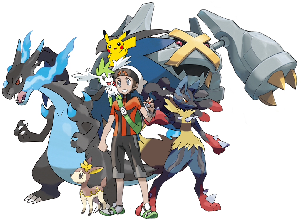 Pokemon Garchomp Mega Evolution Stone Me and My Pokemon Team...