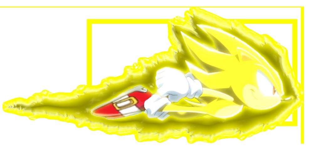 Sonic X Super Sonic Flight Dash Render by FrostTheHobidon on