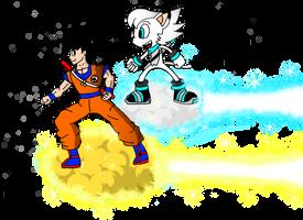 Frost and Goku Nimbus Race by FrostTheHobidon