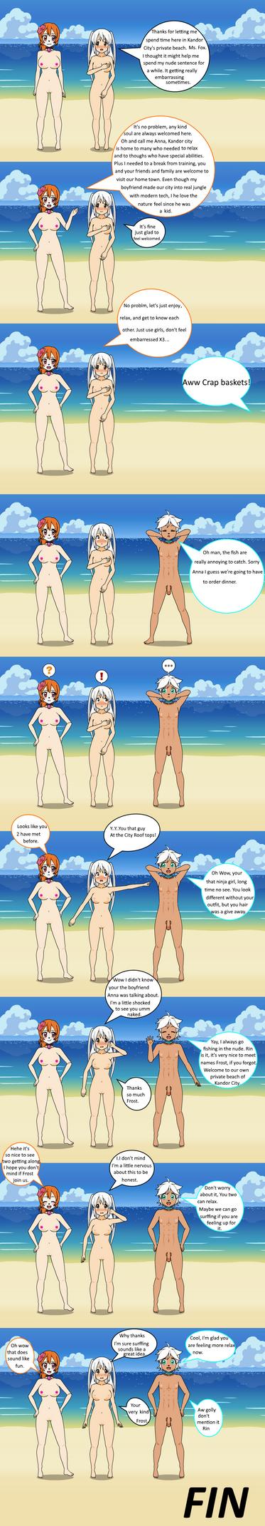 Kisekae: Nude Beach Comic by FrostTheHobidon