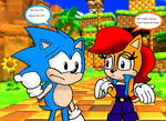 Classic Sonic and Classic Sally In Green Hill