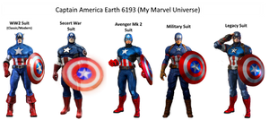 Earth 6193: Captain America Suits