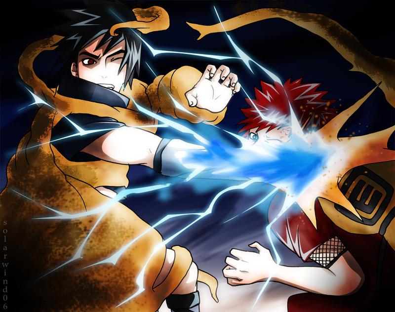 Sasuke Versus Gaara by solarwind06 on DeviantArt