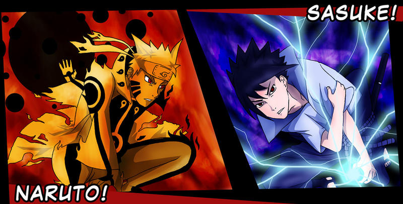 Naruto Kyuubi Mode Vs Sasuke Susanoo Wallpaper