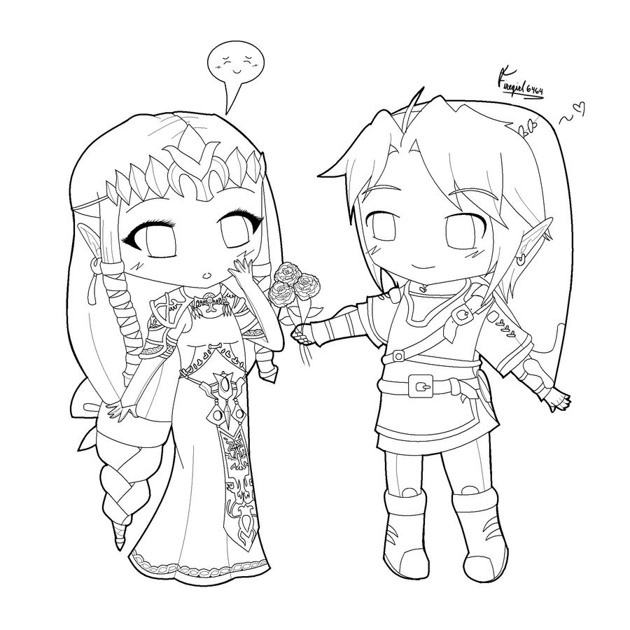 Coloring pages for zelda - Similiar Chibi Link Coloring Page Keywords