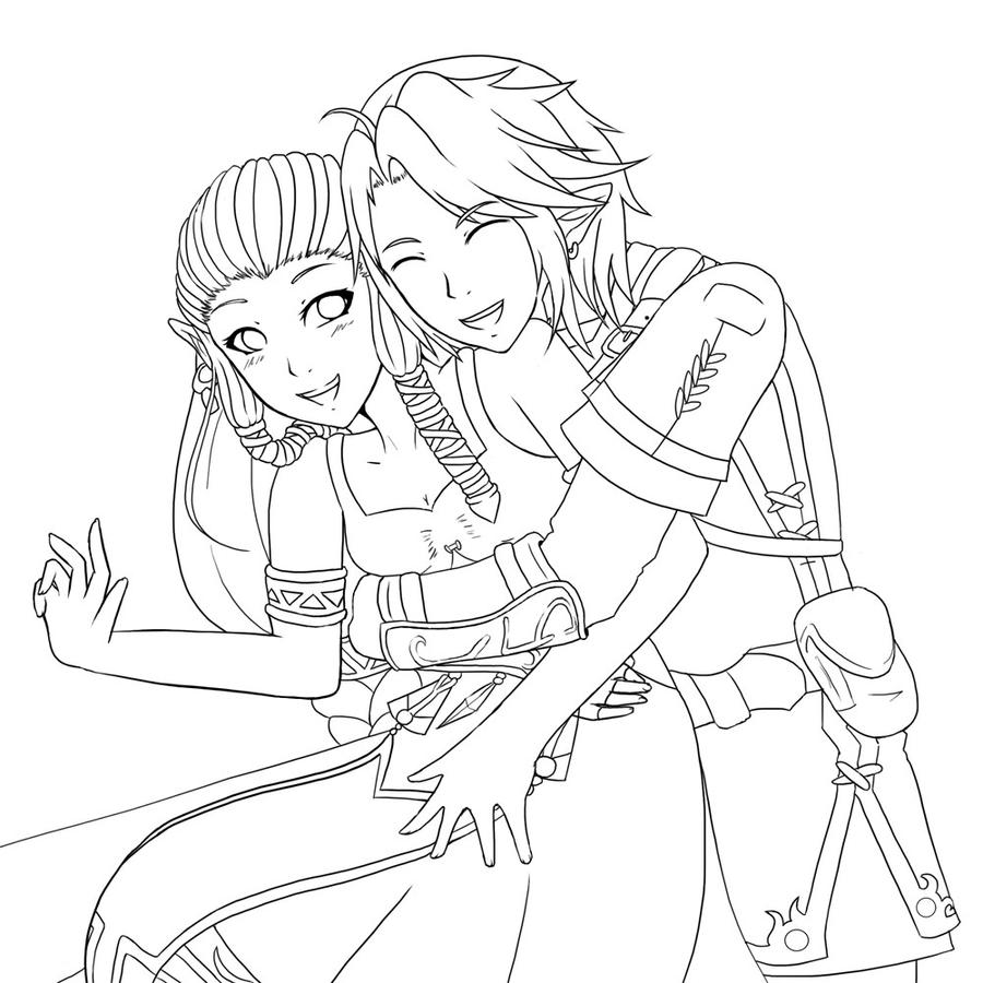 couple anime coloring pages - photo#28