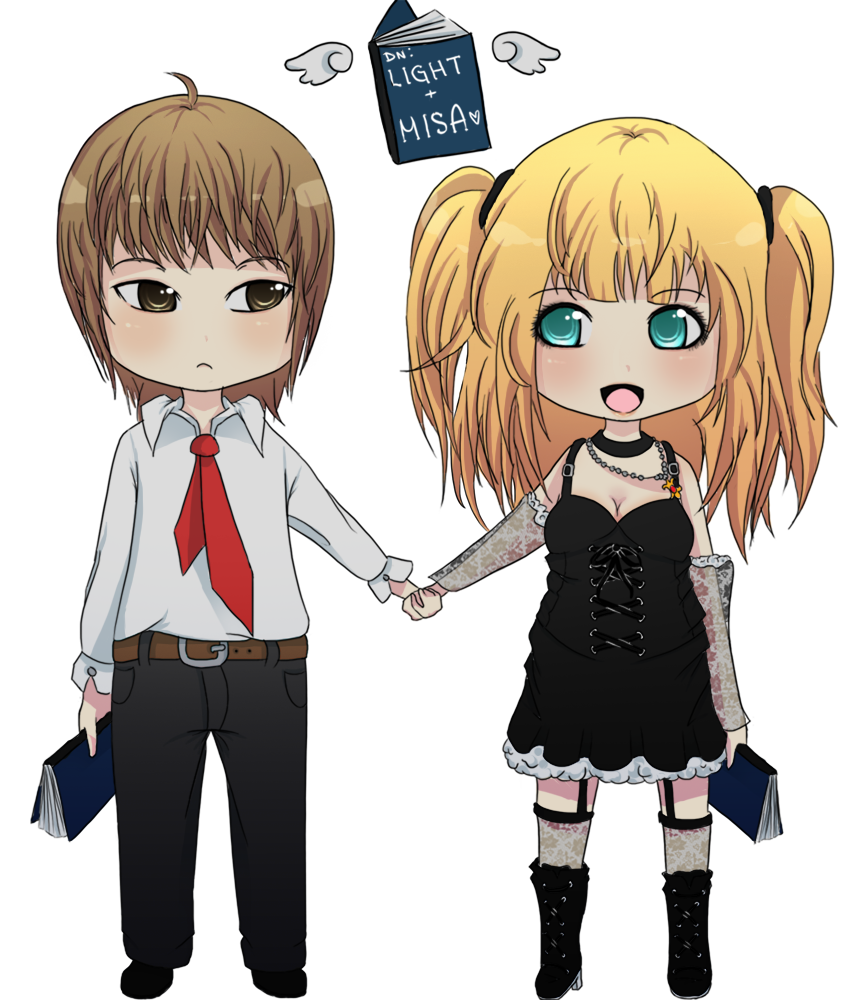 Chibi Light and Misa by firegirl6464 on DeviantArt