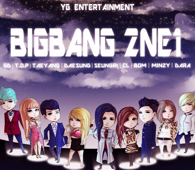 BIG BANG and 2NE1 by firegirl6464
