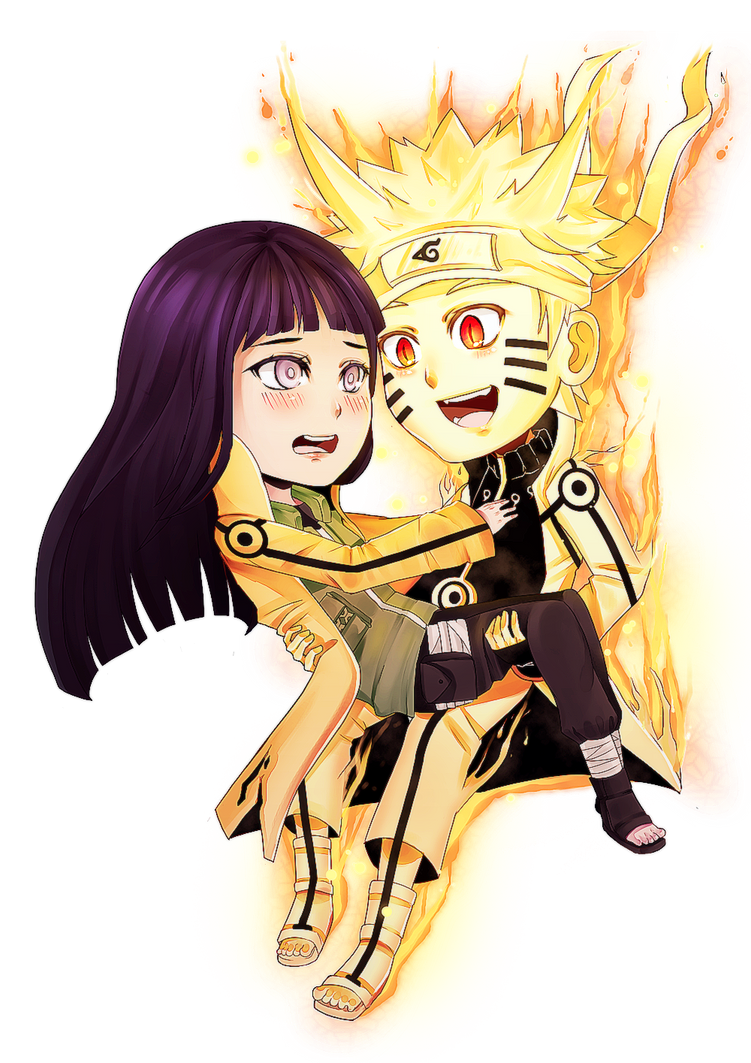 [Commission] Chibi Naruhina by firegirl6464