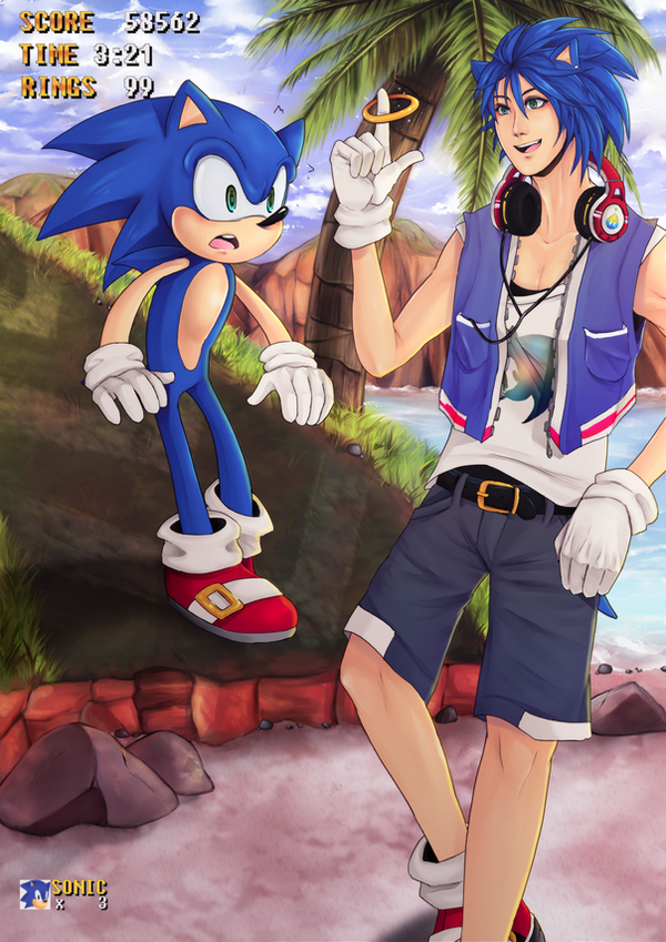 Sonic and Sonic by firegirl6464