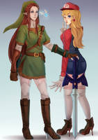Super Peach -- Legend of Link by chocolexii