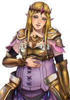 [COMMISSION] Pregnant HW Zelda by chocolexii