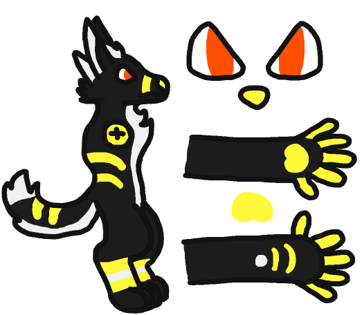 PANIC! Premade Fursuit Reference by gruffenblue