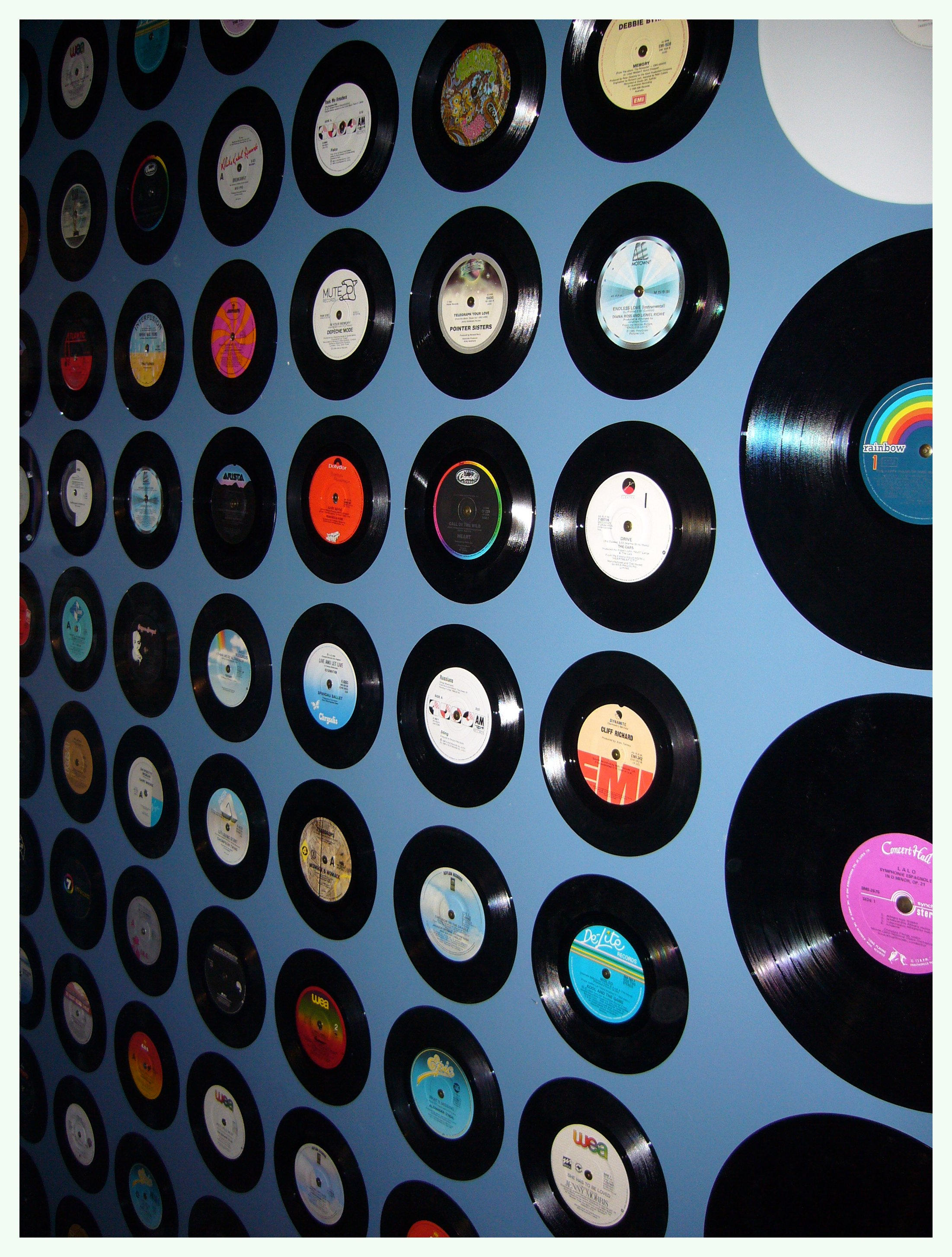 My bedroom wall of records by oche on deviantart for Vinyl record wall art