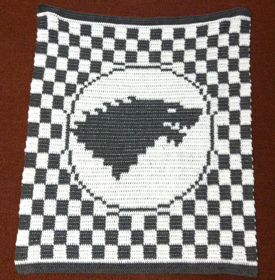House Stark Crochet Blanket by Shywalker