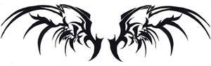 Black Tribal Wings