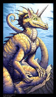 Armored Dragon Zayl by andrea-koupal