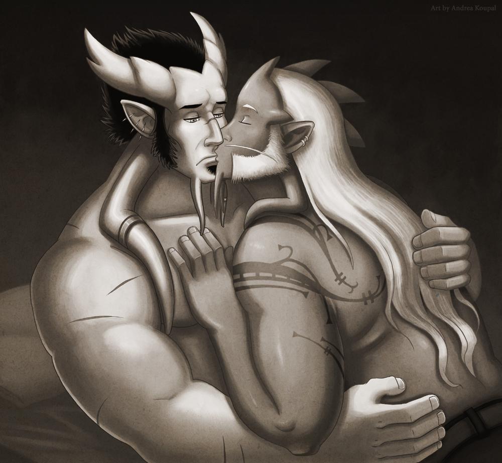 Draenei kiss by andrea-koupal