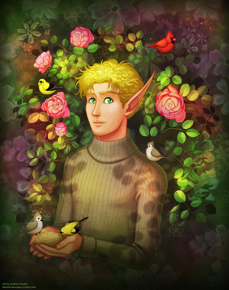 Portrait of Elliot Goldleaf by andrea-koupal