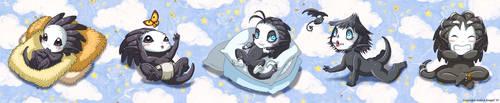 Baby Jinbus by andrea-koupal