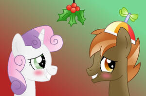 Look Button, Mistletoe! by Fritfeng