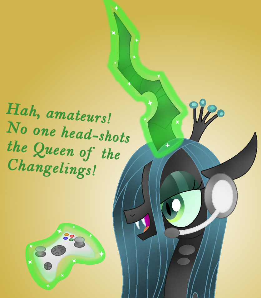 Queen Chrysalis The Gamer by Zoruaofepic