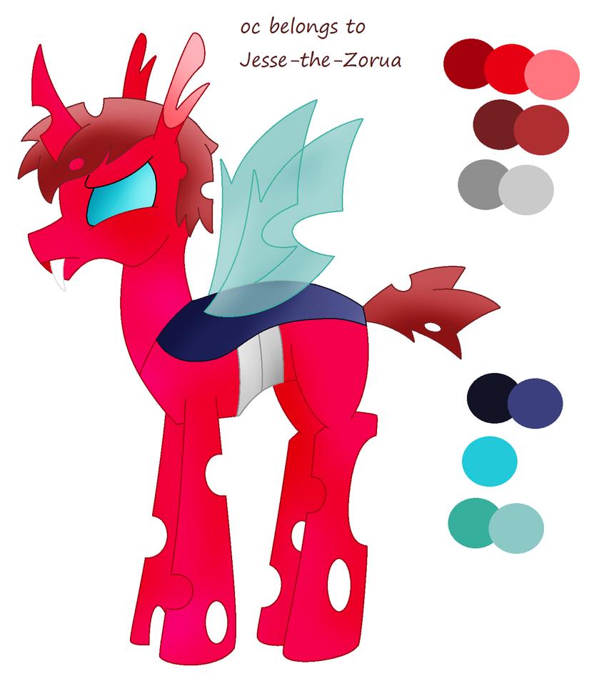 Ref: Jesse-the-Zorua's Changeling OC by Zoruaofepic