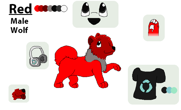 .:Reference Sheet:. Red by whouffIe