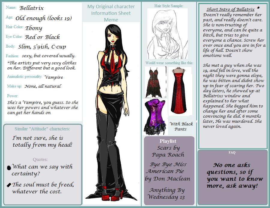 masquerade character sheet
